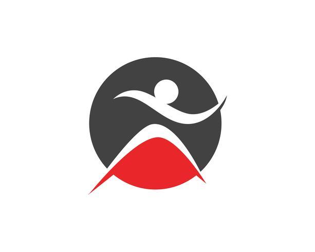 Människokaraktärslogotyp, Hälsovårdslogo. Natur logotyp tecken. Grön livslogotypskylt, vektor