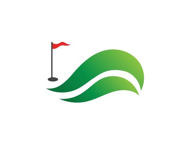 Golfclubikonen-Symbolelemente und Logo vector Bilder