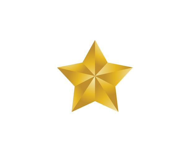 Star logotyp mall vektor ikon illustration design