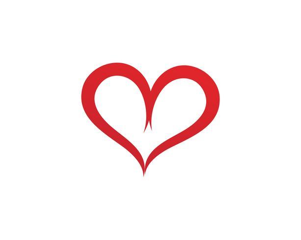 Kärlek Logo symboler Vektor Mall ikoner app