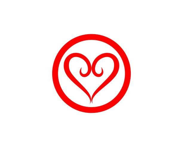 Kärlek Logo och symboler Vector Mall ikoner