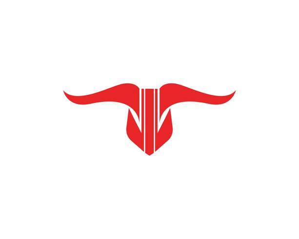 Bull Red Logo und Symbole Vorlage Symbole App vektor