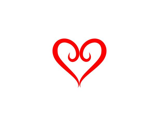Kärlek Logo och symboler Vektor Mall ikoner app vektor