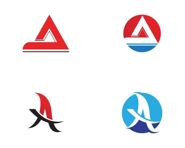 Ein Geschäftsbrief-Logo und ein Symbol Schablonen-Vektorikone vektor