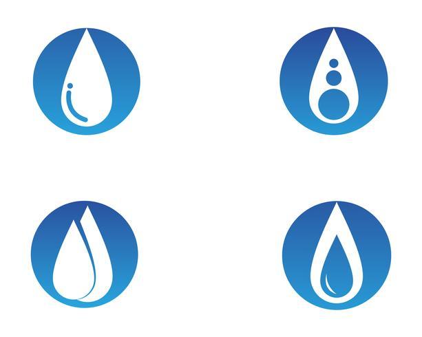 Wassernaturlogo und Symbolschablonenikonen-APP vektor