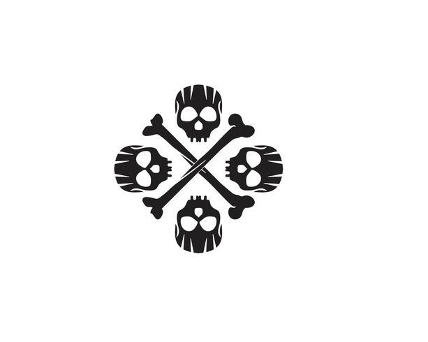 Skull huvudlogotyp och symbolvektorer vektor