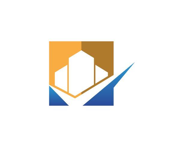 Fastighets- och konstruktion Logo design vektor