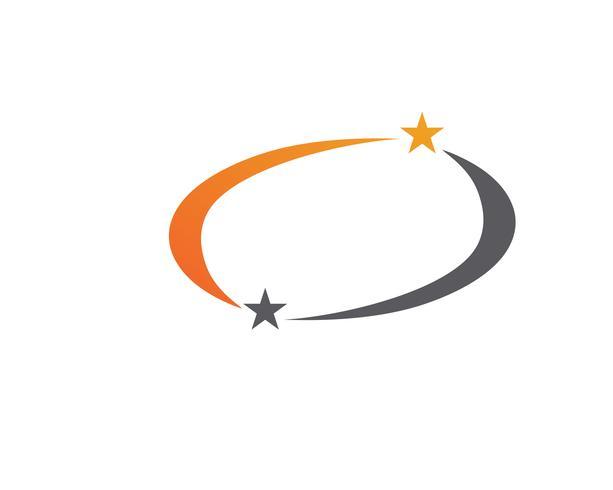 Star logo mall vektor ikon illustration