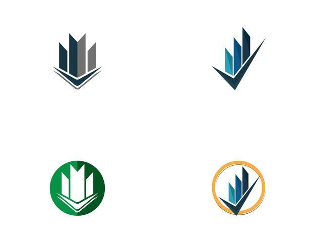 Eigentum und Bau Logo Design vektor
