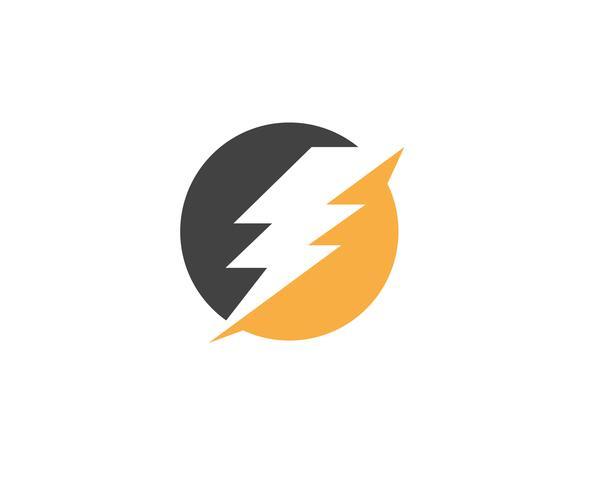 Flash-Blitz-Schablonenvektorikonen-Illustrationsdesign vektor
