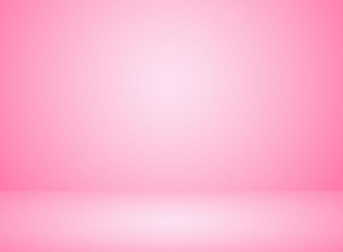 Studiorumsinteriör rosa färgbakgrund med belysningseffekt. vektor