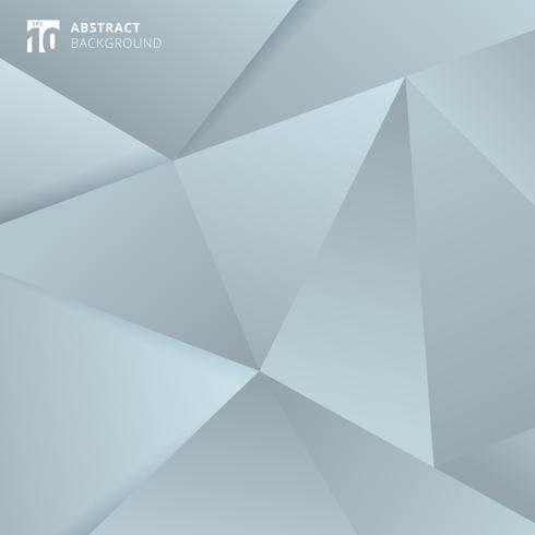 Abstrakter grauer und blauer polygonaler Hintergrund. vektor