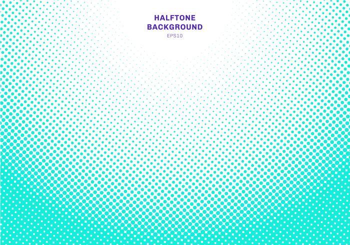Abstrakt ljusblå eller grön halvtons radial effekt på vit bakgrund. Vintage eller retro grafisk stil. vektor