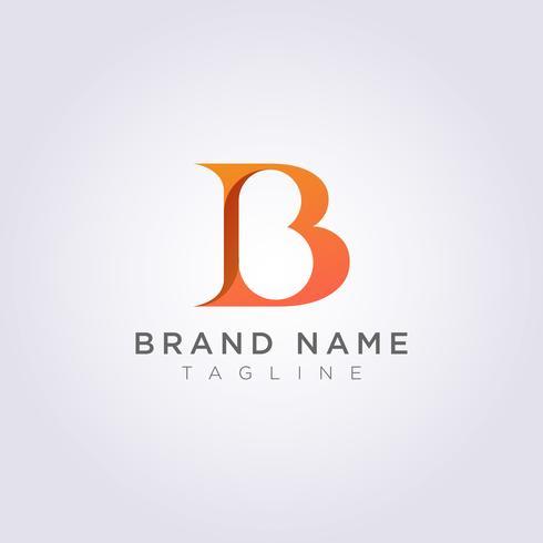 Schöner und luxuriöser Buchstabe B-Logoentwurf für Ihr Geschäft oder Marke vektor