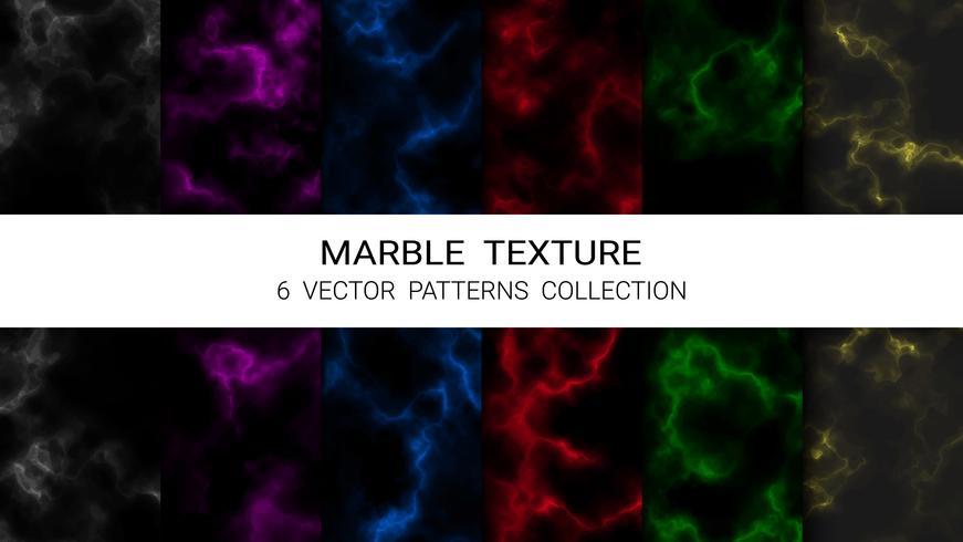 Marmorstruktur, Premium uppsättning vektormönster Samling, Abstrakt bakgrundsmall. vektor