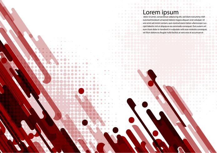 Rote Farbgeometrische abstrakte Hintergrundvektorillustration vektor