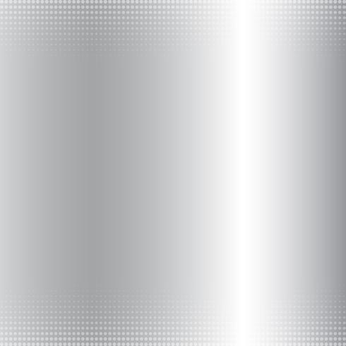 Abstrakt silvergradient metallisk bakgrund och halvtonstextur. lyxig stil. vektor