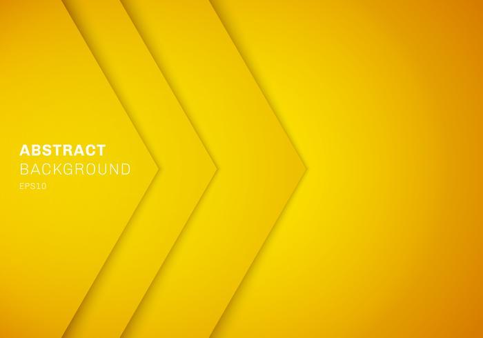 Abstraktes gelbes Dreieck 3D mit Überlappungspapierschicht-Steigungsfarbe mit Kopienraumhintergrund. vektor