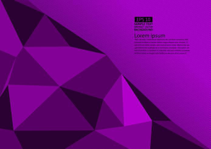 Lila färgpolygon abstrakt bakgrund med kopia utrymme, Vektor illustration eps10