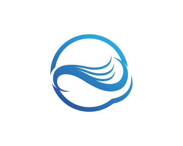 Wasserwellensymbol und Ikone Logo Template-Vektor vektor