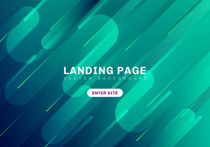 Abstrakte minimale geometrische vibrierende grüne und blaue Farbe auf dunklem Hintergrund. Template Website Landing Page. Dynamische Formkomposition vektor