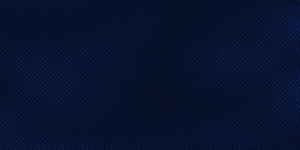 Abstrakt mörkblå bakgrund med halvtonmönster ljusblå konsistens. Kreativ omslagsdesignmall vektor
