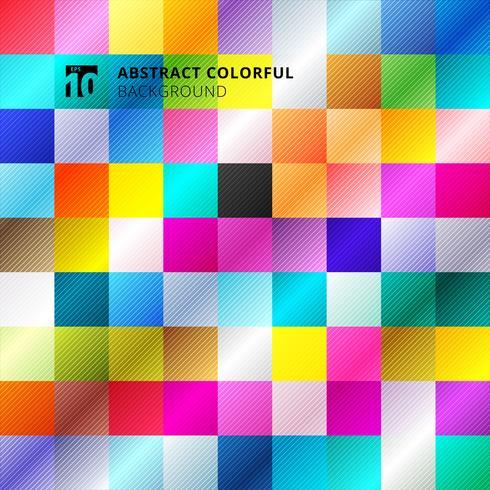 Abstrakt färgrik kvadratmönster bakgrund. vektor