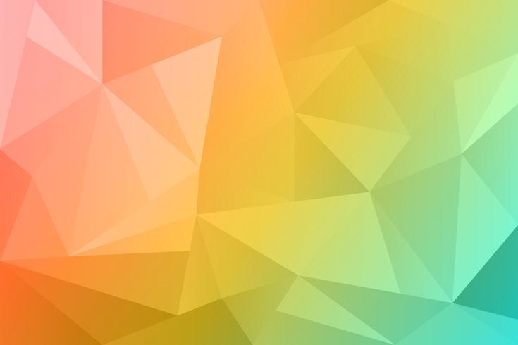 Polygonaler Hintergrund des abstrakten Sommers. Frühlingsnatur-Orangenfarbe. vektor