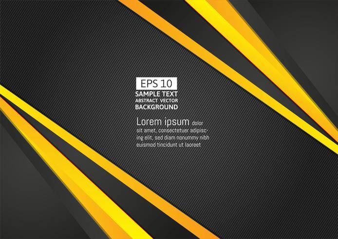 Abstrakter geometrischer schwarzer und gelber Farbhintergrund mit Kopienraum für Ihr modernes Design des Geschäfts, Vektorillustration vektor