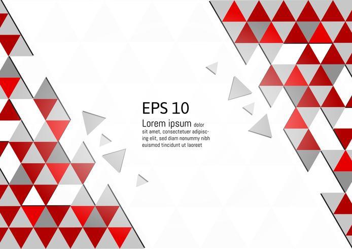 Vector modernes Design eps10 des abstrakten geometrischen roten und grauen Hintergrundes mit Kopienraum