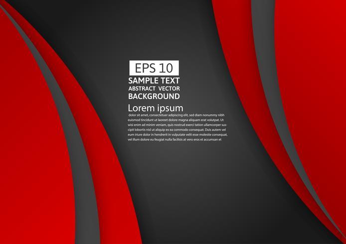 Geometrisk abstrakt bakgrund röd och svart färg med kopia utrymme för ditt företag, Vektor illustration
