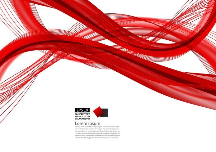 Modernes Design des roten abstrakten Wellenhintergrundes mit Kopienraum, Vektorillustration für Ihr Geschäft vektor
