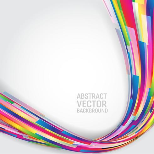 Multi farbiger geometrischer abstrakter Hintergrund mit Kopienraum. Vektor-Illustration vektor