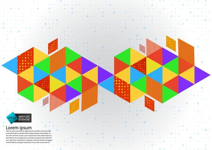 Färgrik geometrisk abstrakt bakgrund vektor illustration med kopia utrymme