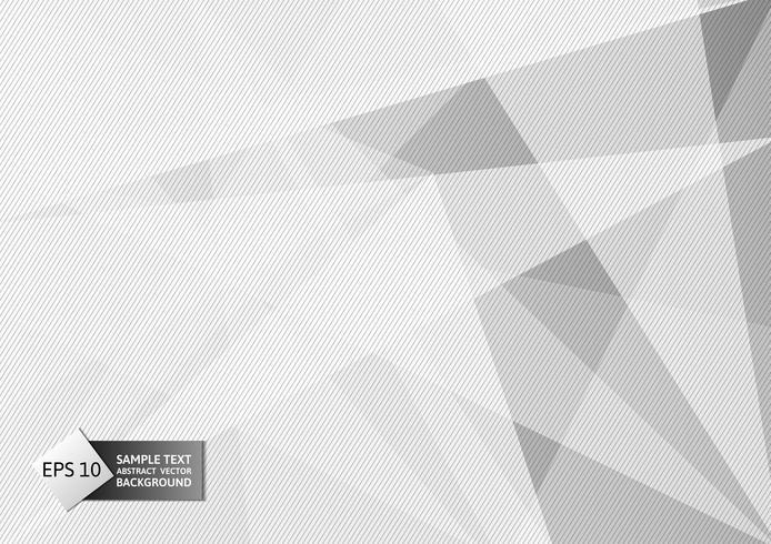 Vit och grå färg polygon och linje abstrakt bakgrund modern design, Vektor illustration för din verksamhet