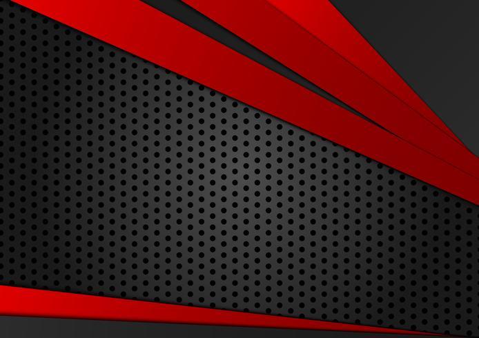 Rote und schwarze Farbe des abstrakten geometrischen Hintergrundes. Neue Hintergrundbeschaffenheit mit Kopienraumdesign für Ihr Geschäft vektor