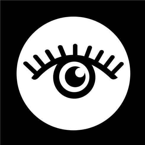 Sign of Eye-ikonen vektor