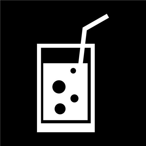Dricka ikon vektor illustration