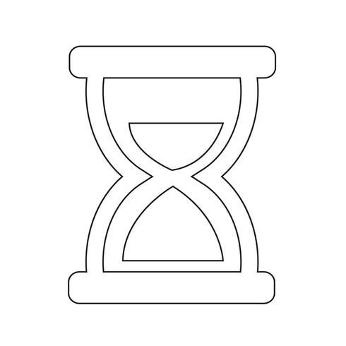 Sanduhr-Symbol-Vektor-Illustration vektor