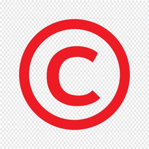 Urheberrecht Symbol Symbol Vektor-Illustration vektor