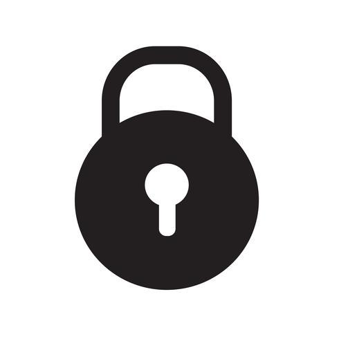 Lås ikon vektor illustration