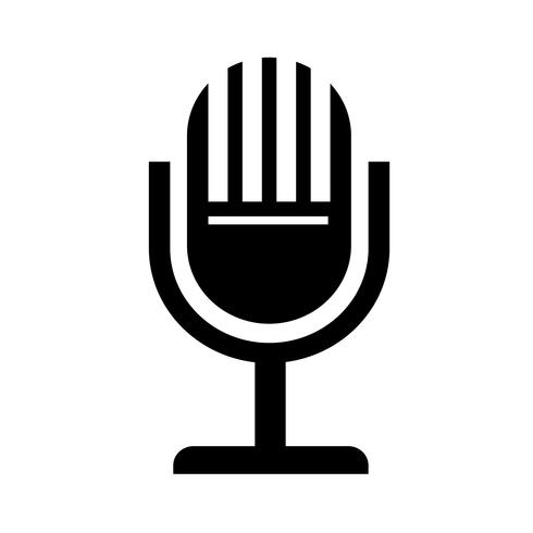Mikrofon-Symbol-Vektor-Illustration vektor