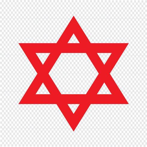 Star David ikon vektor illustration