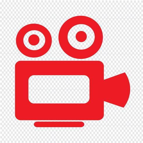 Kino-Kamera-Symbol vektor