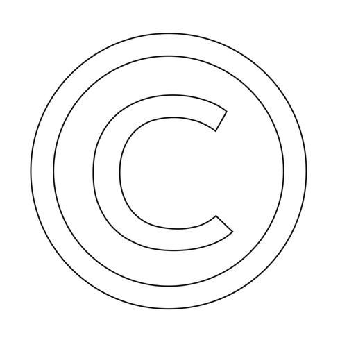 Symbol för upphovsymbolsymbol Vector Illustration