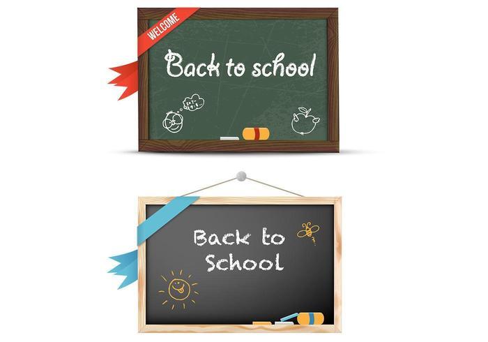 Tillbaka till skolan Chalkboard Vector Pack