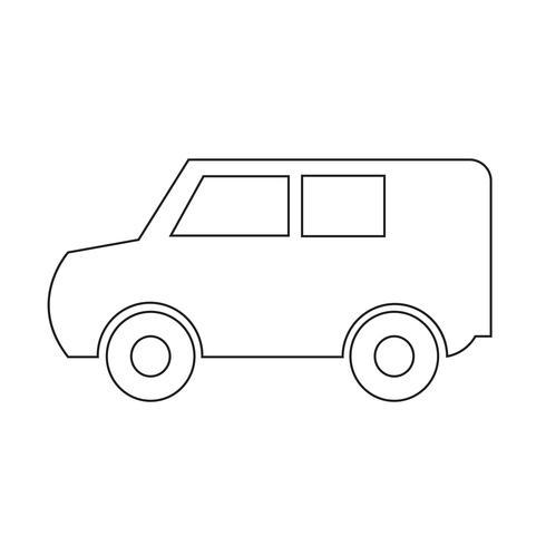 Bil ikon vektor illustration