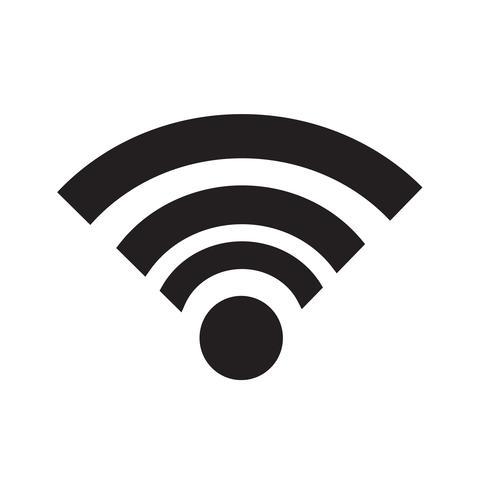 Wi-Fi-Symbol Vektor-Illustration vektor