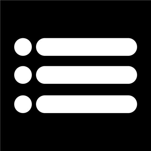 Listenikonen-Vektorillustration mit Aufzählungszeichen vektor