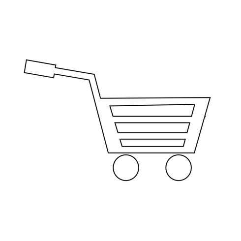 Warenkorbikonen-Vektorillustration vektor